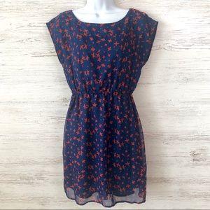 TULLE Retro Bird Print Dress